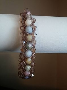 This is really a beautiful bracelet.  It goes with everything. Can be mad with firepolish or semi precious gemstones