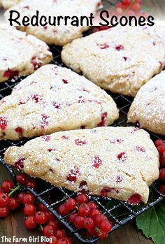 These Redcurrant Scones Recipe make a perfect breakfast, brunch, or an afternoon coffee break! They are so simple to make but delicious treat that is very much enjoyed by our family. Light, moist, and fluffy, every bite melt in your mouth. #redcurrantscones #homegrownredcurratnts #redcurrants #breakfastredcurrantscones #thefarmgirlblog   thefarmgirlblog.com