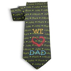 Father's Day Tie - Multiple Children