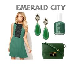 Emerald city! Best way to wear Emerald: The color of the Year