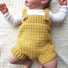 Someone found for: kid rompers!, Find thousands of handmade, old, and special merchandise and gifts regarding each of your quest. Crochet Baby Bloomers, Crochet Bebe, Baby Girl Crochet, Love Crochet, Crochet For Kids, Crochet Romper, Baby Knitting Patterns, Baby Boy Knitting, Baby Patterns