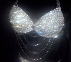 Bling, Sparkly, Shiny Things Bedazzled Bra, Rhinestone Bra, Bra Lingerie, Classy Outfits, Sexy Outfits, Sparkly Bikinis, Dance Outfits, Concert Outfits, Woman Clothing