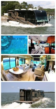 Luxury Lifestyle : Say what! A luxury camper van that turns into a boat! This is will blow you a Luxury Campers, Luxury Motorhomes, Luxury Rv, Rv Campers, Camper Van, Luxury Caravans, Popup Camper, Truck Camper, Cbx 250