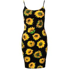 Motel Piper Dress ($45) ❤ liked on Polyvore featuring dresses, sunflower, womens-fashion, sunflower print dress, sun flower dress, low back dress, tall dresses and low back cocktail dress