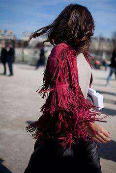 Stunning suede fringed jacket