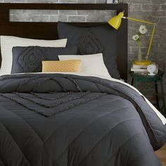 Ruffled + Ruched Quilt + Shams | West Elm