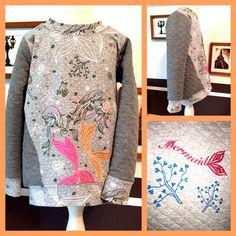 Pull*ee Pullover & Sweatshirts - Sweatshirt Pulli Mermaid grau 104 - ein…