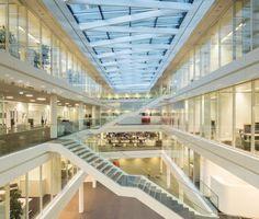 Great open atrium space at the new Trianel Headquarters. #atrium