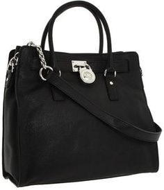 MICHAEL Michael Kors - Hamilton Large North/South Tote (Black Leather)