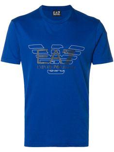 Emporio Armani Logo Print T-shirt - Farfetch Armani Logo, Dsquared2, Emporio Armani, Shirt Designs, Mens Fashion, Season 2, Tees, Mens Tops, T Shirt