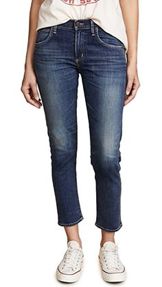 Shopbop Citizens of Humanity The Principle Girlfriend Jeans, Prussian Blue Dad Sneakers, Girlfriend Jeans, Denim Branding, Citizens Of Humanity Jeans, Best Jeans, Ankle Jeans, Stretch Denim, Designing Women, Girlfriends