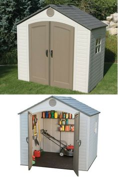 Small Outdoor Storage Sheds With Modern Styling. 8 X 5 Ft Low Maintenance  Resin Shed