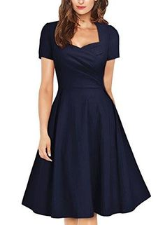 Shop https://goo.gl/pKU80M   MissMay Women's Vintage 1950s Navy Style Short Sleeve Pleated Cocktail Swing Dress   Check Store Price https://goo.gl/pKU80M  #1950S #Cocktail #Dress #MissMay #Navy #Pleated #Short #Sleeve #Style #Swing #Vintage #Womens