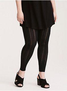 33d2ce4f468 Pointelle Knit Full Length Leggings. Skins LeggingsWomen s Plus ...