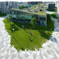 Peculiar green roof @Funen park by Landlab- www.landarchs.com