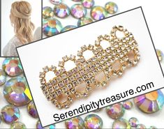 Serendipitytreasure.com #etsy shop: Rhinestone Barrette Hair clip - Signed Made in France - Clear crystal - gold - Wedding Bride http://etsy.me/2G7cOBG #accessories #hair #clear #gold #hairclip #barrette #madeinfrance #hairaccessory #serendipitytreas