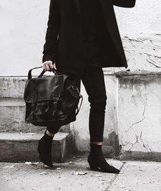 We love this edgy monochromatic shot from - featuring our Ebony Black Harvard Satchel[link in bio or tap to shop] Leather Design, Harvard, Leather Satchel, Messenger Bag, Shopping, Black, Instagram, Fashion, Moda