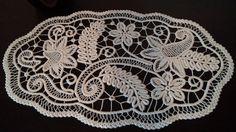 Centerpiece Doily Romanian Point Lace Style Crochet Doily