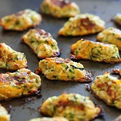 Zucchini Tots Recipe with cooking spray, zucchini, large eggs, onions, reduced fat sharp cheddar cheese, seasoned bread crumbs, kosher salt