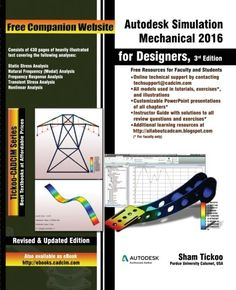 Download free Autodesk Simulation Mechanical  2016 for Designers 3rd Edition pdf