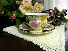 Collingwood Fine Bone China Teacup Tea Cup and Saucer - Damaged 7706