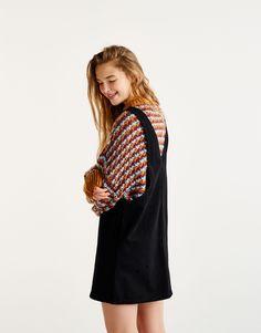 Robe salopette jean noire - Denim Collection - Denim - HIDDEN - PULL BEAR  France Scamiciato 25616993f07