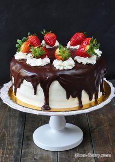 шоколадный торт с глазурью