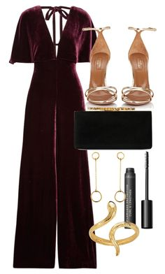 """Untitled #5087"" by olivia-mr ❤ liked on Polyvore featuring Cushnie Et Ochs, Aquazzura, Bare Escentuals, Jimmy Choo, Satomi Kawakita and Madina Visconti di Modrone"