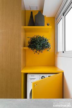 Lavanderia - Boas ideias de marcenaria turbinam apartamento de casal jovem | Arquitetura e Construção