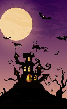 Image shared by Jójò. Find images and videos about sweet, wallpaper and dark on We Heart It - the app to get lost in what you love. Halloween Cartoons, Halloween Items, Halloween Pictures, Halloween House, Happy Halloween, Halloween Canvas, Halloween Painting, Vintage Halloween, Halloween Crafts