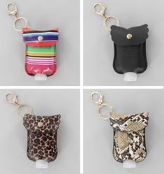 Hand Sanitizer Keychains by Accent Accessories Hand Sanitizer, Keychains, Coin Purse, Wallet, Personalized Items, How To Make, Gifts, Travel, Accessories