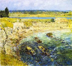 The Athenaeum - Bailey's Beach, Newport, Rhode Island (Frederick Childe Hassam - 1901)