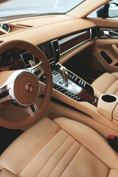Porsche tan leather interior