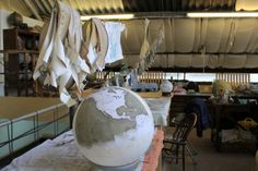 Photo by World of Wanderlust : check out her adventures around the world and read about her visit to our studio in Stoke Newington. Handmade bespoke world globes. Bellerby and Co Globemakers www.bellerbyandco.com.