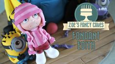 How to make a fimo Edith model / gum paste Edith figure from despicable me. In this tutorial I show you how to make a model of the character Edith from despi. Zoes Fancy Cakes, Minion Cookies, Cold Porcelain Tutorial, Disney Themed Cakes, Cake Models, Biscuit, Girly Cakes, Fondant Animals, Modeling Paste