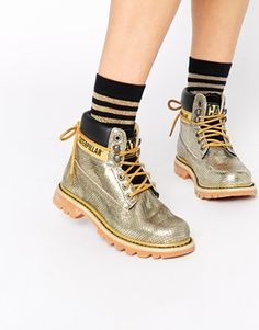 8998dd7c6f32a9 Cat Footwear Colorado Burnish Brights Gold Leather Ankle Boots Snakeskin  Boots, Leather Ankle Boots,