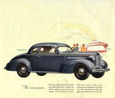 1937 Oldsmobile Six Club Coupe Car Brochure, Car Illustration, Car Engine, My Favorite Color, Vintage Ads, Illustrations Posters, Transportation, Engineering, Album