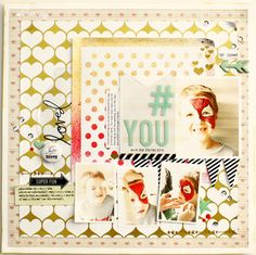the magic of stencils « Heidi Swapp Layout created using Heidi's mini polka Dot stencil and colorshine! #heidiswapp #colorshine