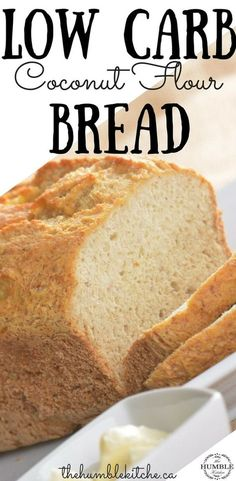 Coconut Flour Bread Recipe – Low Carb Cut the carbs with this low carb coconut flour bread recipe! Easy to make, keto friendly, and gluten-free. Easy Keto Bread Recipe, Best Keto Bread, Lowest Carb Bread Recipe, Easy Bread Recipes, Low Carb Bread, Low Carb Recipes, Healthy Recipes, Recipe List, Fish Recipes
