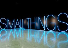 Martin Creed - work no. 567 'small things' neon installation, 2006