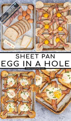Breakfast Toast, Breakfast Items, Best Breakfast, Healthy Breakfast Recipes, Brunch Recipes, Egg In A Hole, Quick And Easy Breakfast, Easy Family Meals, Morning Food