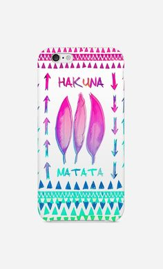 Cell Phone Cases - Coque iPhone Plume Hakuna Matata by Monika Strigel - Art Shop - Wooop.fr - Welcome to the Cell Phone Cases Store, where you'll find great prices on a wide range of different cases for your cell phone (IPhone - Samsung)