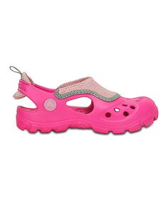 Look at this Crocs Magenta & Cotton Candy Micah II Sandal - Toddler & Girls on #zulily today!