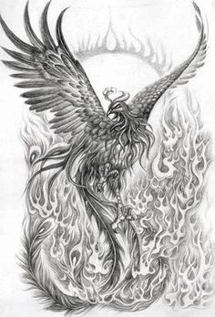 Phoenix Drawing by KKLani, via Flickr