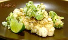 Daphne Oz's Grilled Halibut with Avocado Relish from The Chew