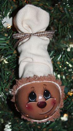 Gingerbread Man, Standard Light Bulb Ornament