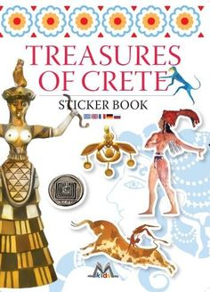 Treasures of crete sticker book, greek culture, minoan civilization, visit crete, holidays, mediterraneo editions, www.mediterraneo.gr