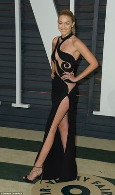 Gigi at the Oscars Vanity Fair After Party in LA last month...