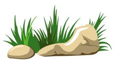 Grass and Stones Transparent PNG Clipart