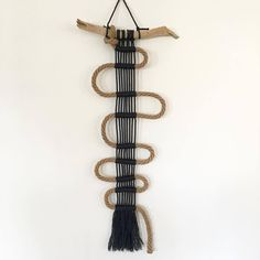 decordemon: Unique handmade macrame' by Ita Dyi Decorations, Macrame Wall Hanger, Bone Crafts, Fabric Bowls, Tapestry Design, Macrame Projects, Paper Folding, Macrame Jewelry, Tapestry Weaving